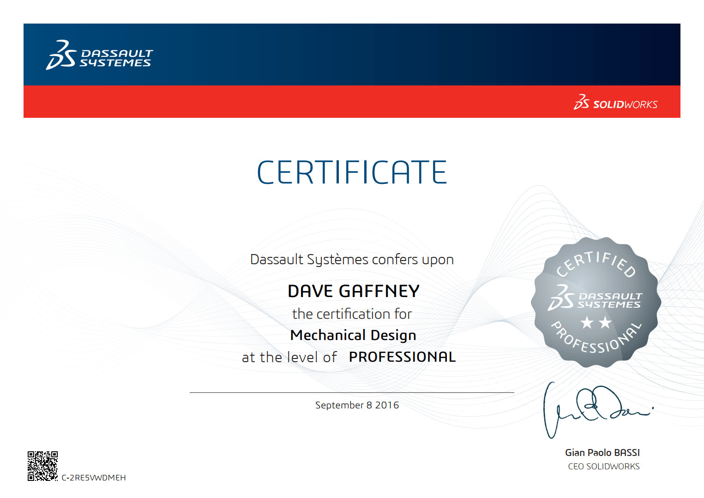 See Certificate
